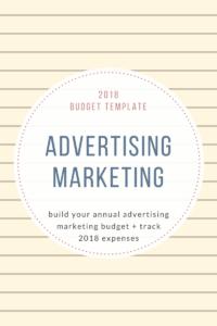 2018Budget Template advertising Marketing