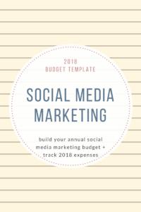 2018Budget Template social media Marketing