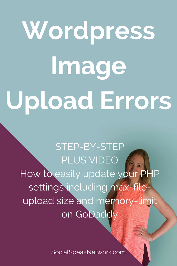 How to update your PHP settings in GoDaddy. Step by step video and notes on increasing Max File Upload and Memory Limits in GoDaddy Hosting, Great for WordPress Media Upload Error. #wordpress #phpsettings #websitehelp #website, website errors,