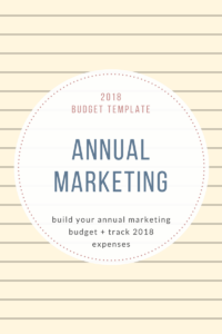 2018Budget Template Annual Marketing