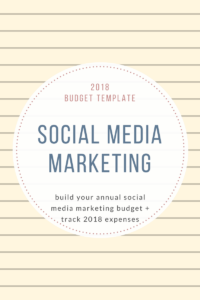 2018Budget Template social media Marketing