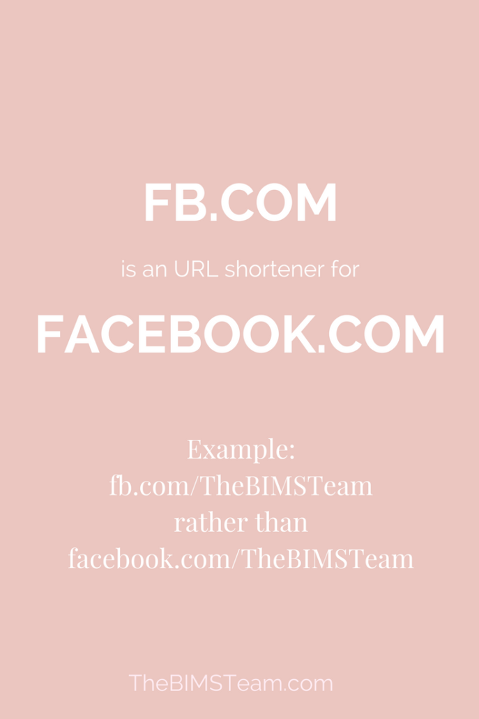 Use FB.com as a link shortener for your #Facebook Page in your Digital Marketing