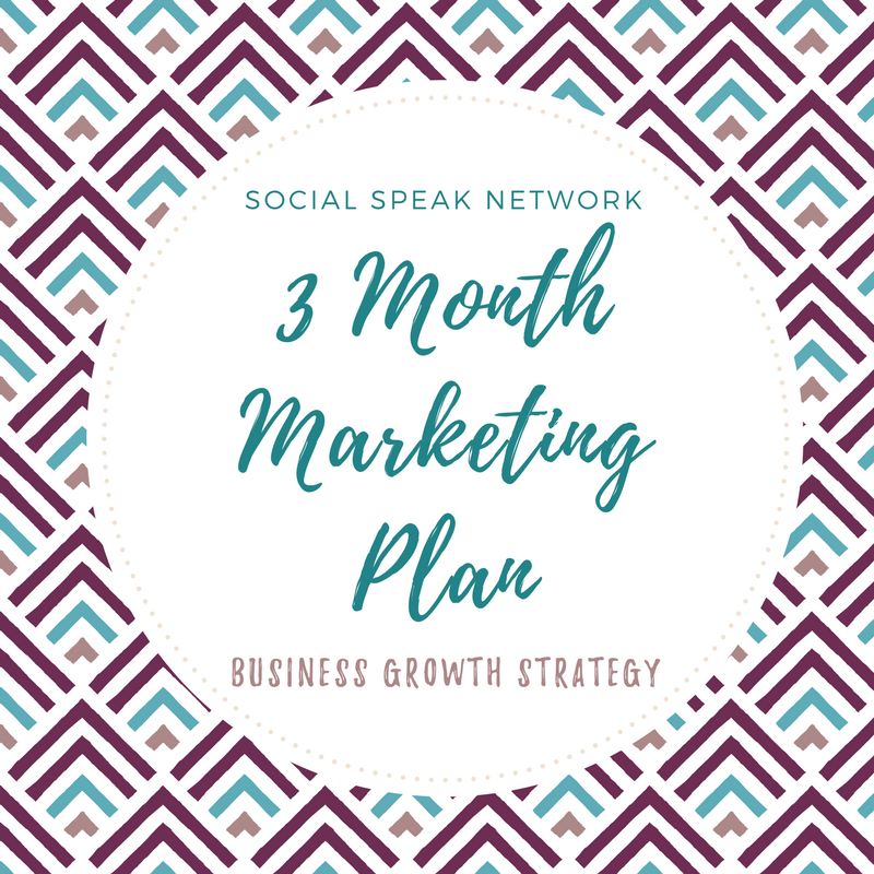 3 month marketing plan