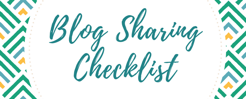 blog sharing checklist