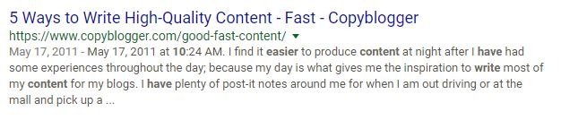 5 Ways to Write High Quality Content Fast