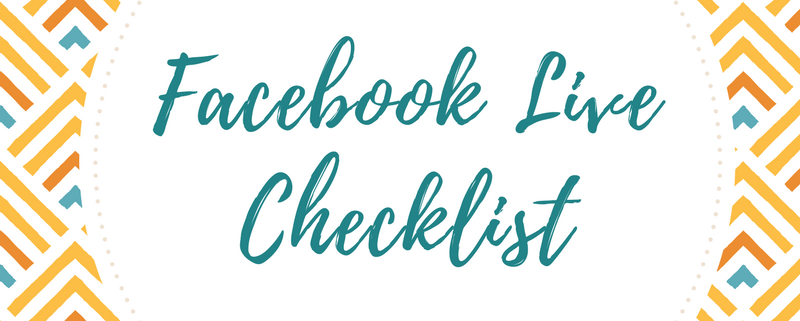 facebook live cheatsheet