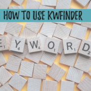 How to use KWFinder