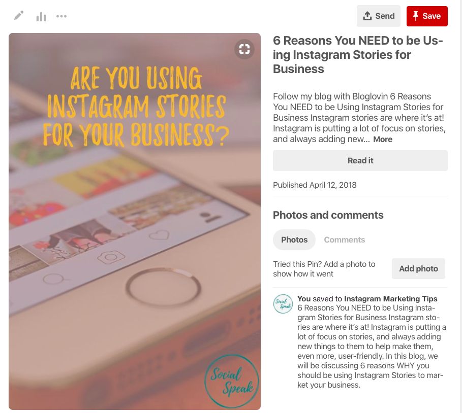 Sharing your blog on Pinterest