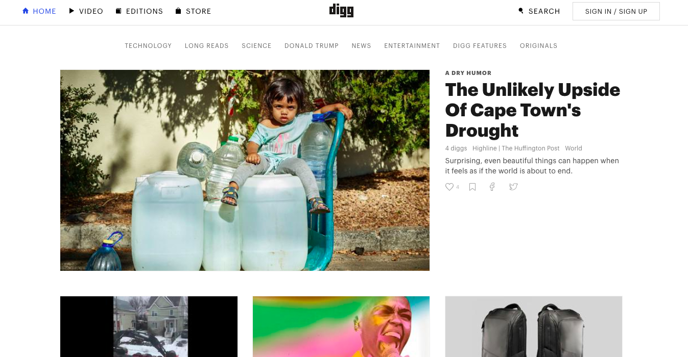 Sharing blog posts to digg
