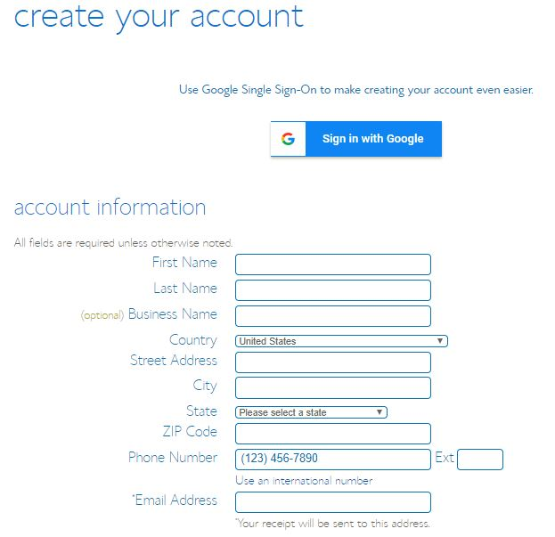 bluehost create your account today