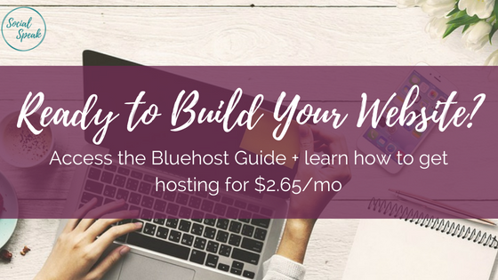 create bluehost website