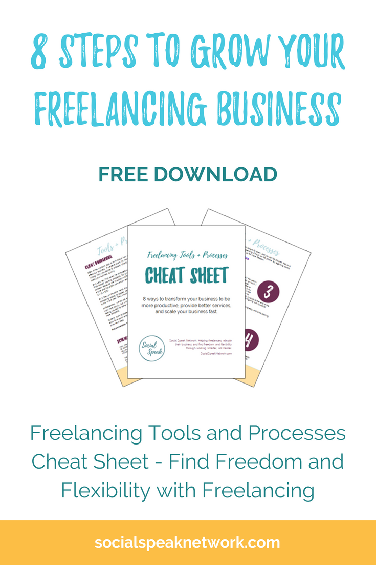 8 ways to transform your freelancing business to be more #productive, provide better services, and scale your business fast so you can find more freedom and flexibility with #freelancing. Free tools and processes download.
