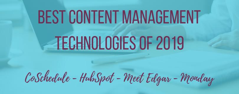 Best Content Management Technologies of 2019 #inboundmarketing #contentmarketing