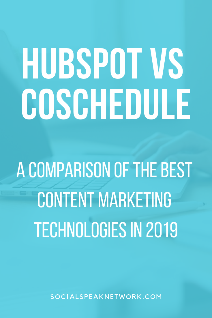 Hubspot vs Coschedule for content management software