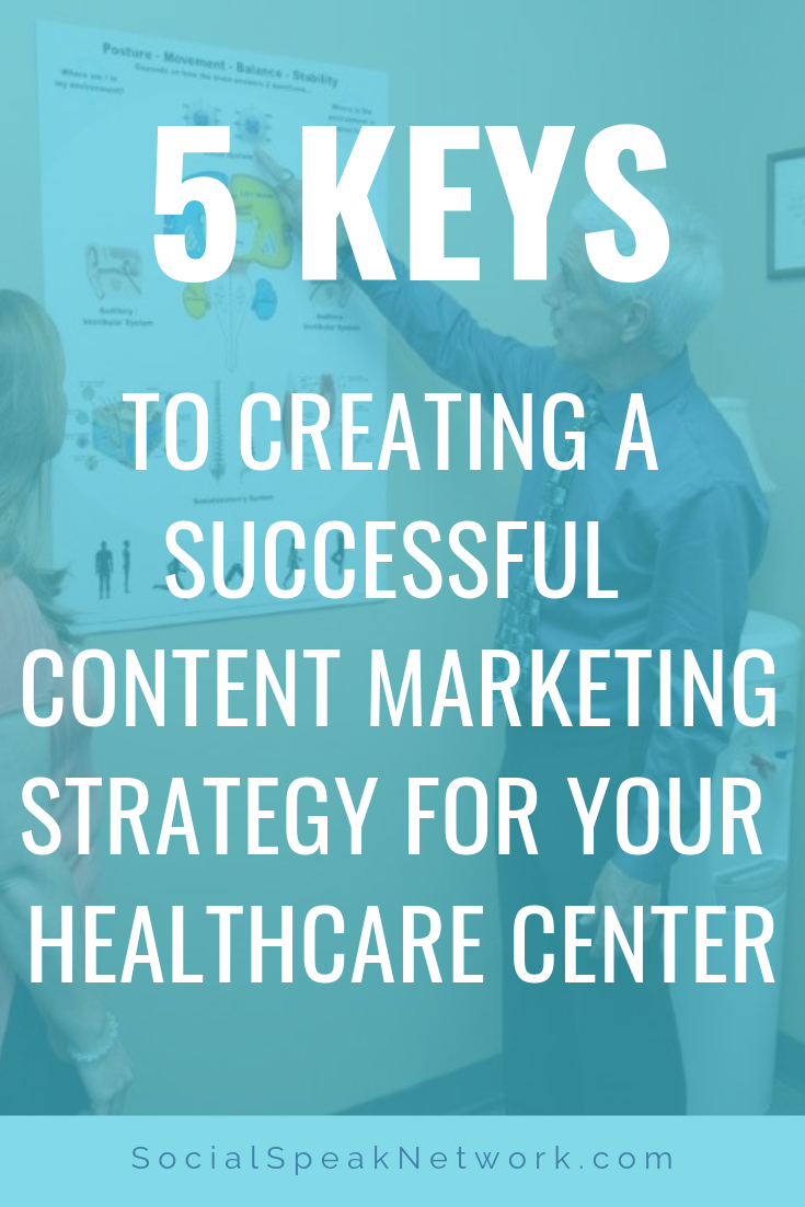 5 Keys to Creating a Successful Content Marketing Strategy for your Healthcare Center #inbound #contentmarketing