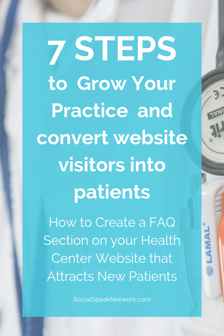 How to Create a FAQ Section on your Health Center Website that Actually Attracts New Patient