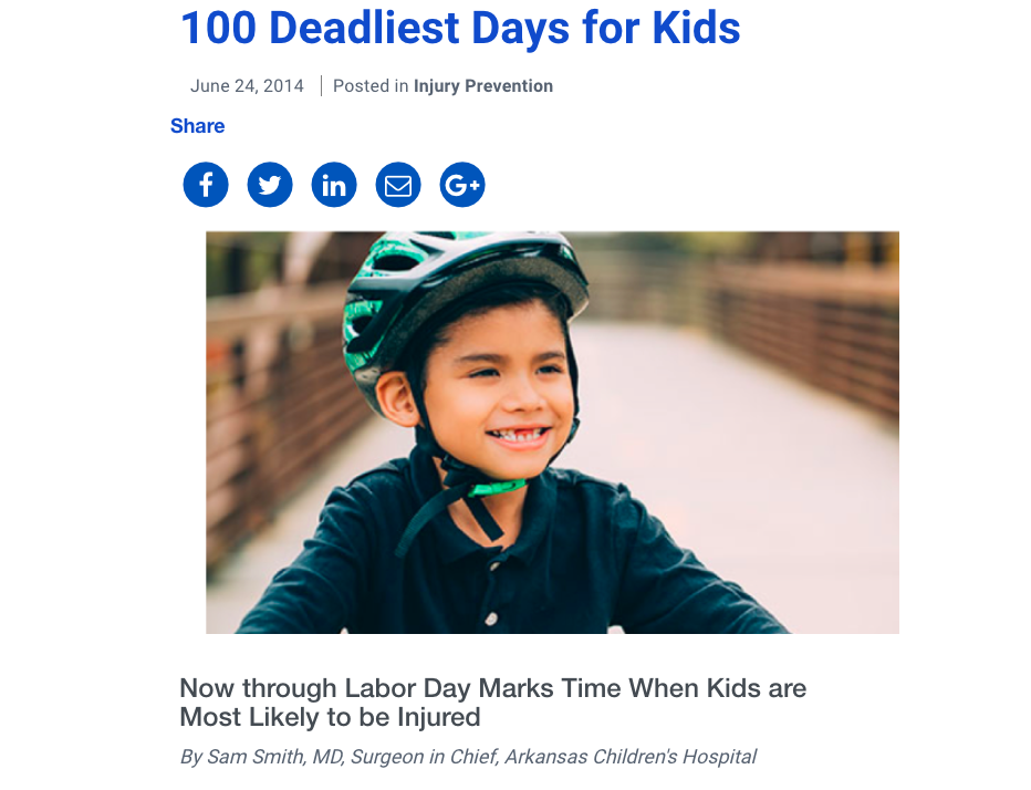 100 Deadliest Days for Kids