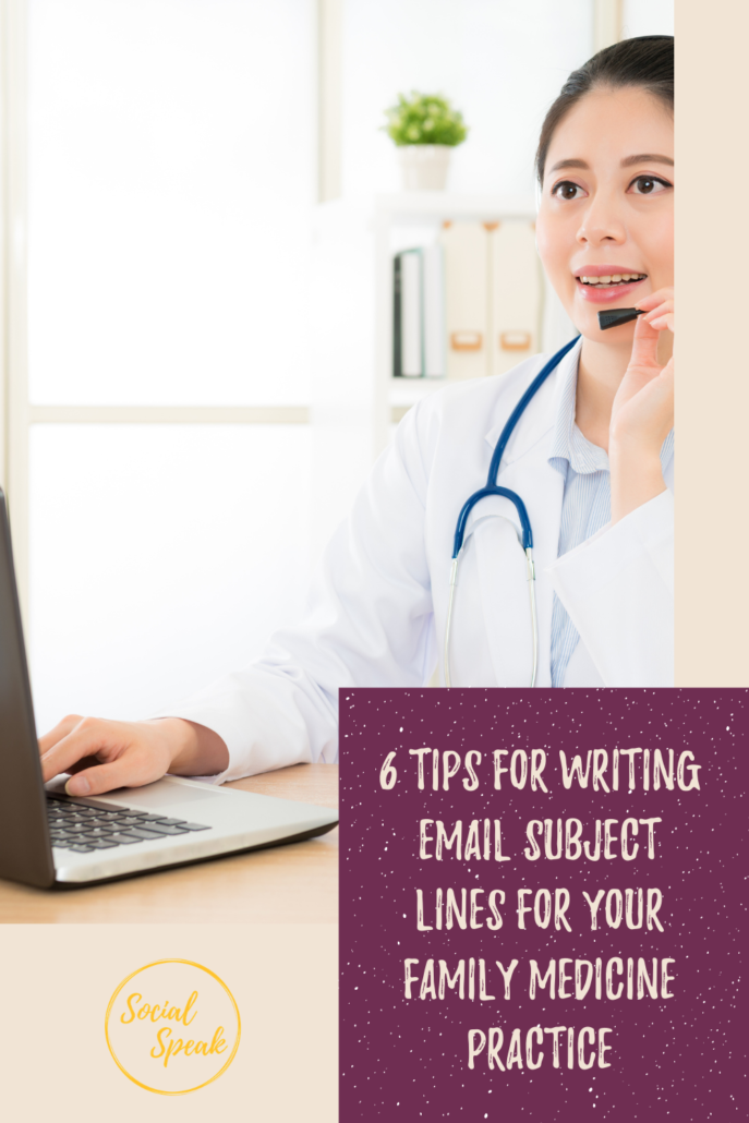 6 Tips for Writing Email Subject Lines for your Family Medicine Practice