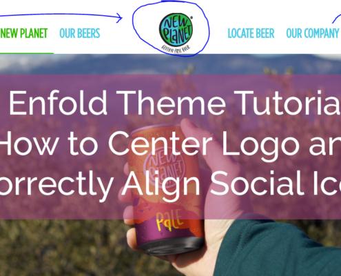 enfold theme menu customizations