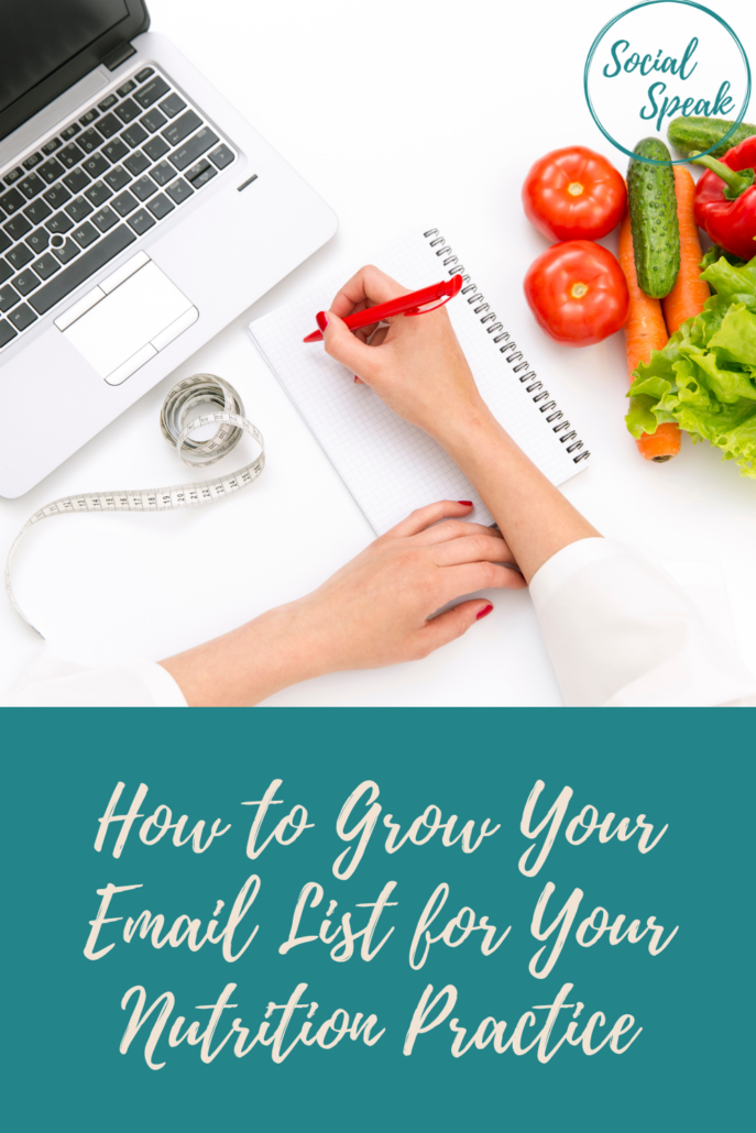 How to Grow Your Email List for Your Nutrition Practice