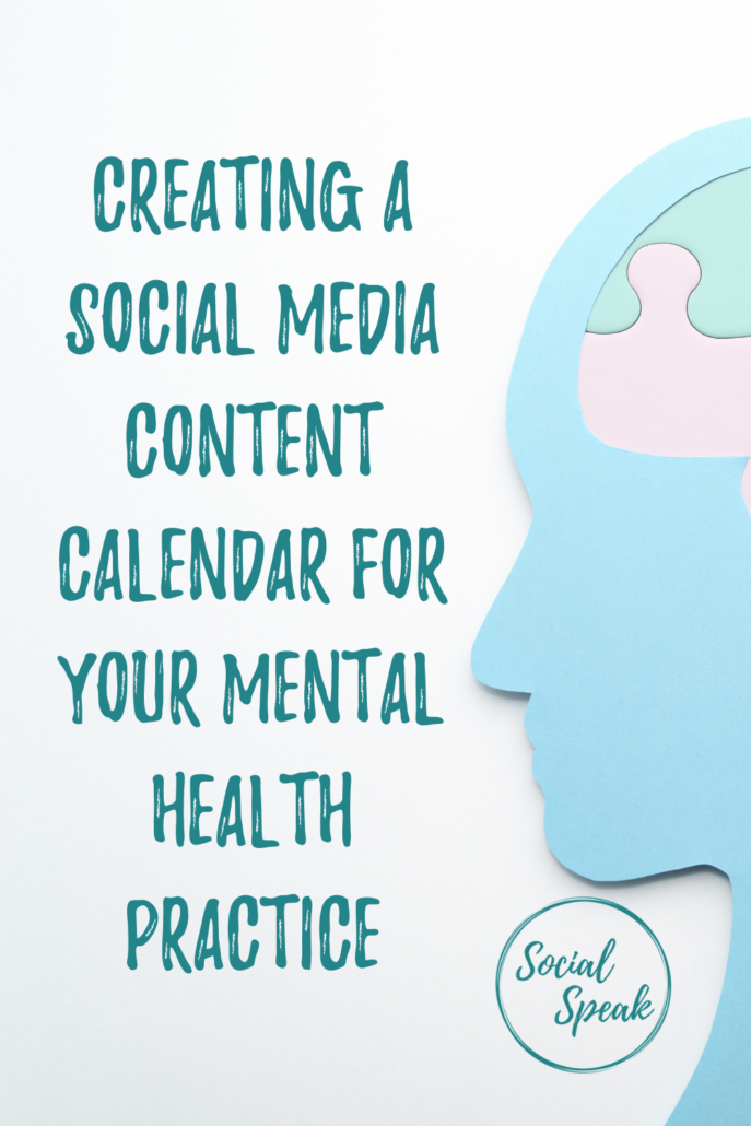 Creating a Social Media Content Calendar for Your Mental Health Practice