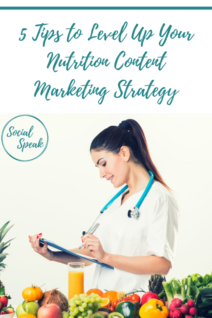 5 Tips to Level Up Your Nutrition Content Marketing Strategy