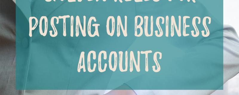 Social Media Etiquette Golden Rules for Posting on Business Accounts